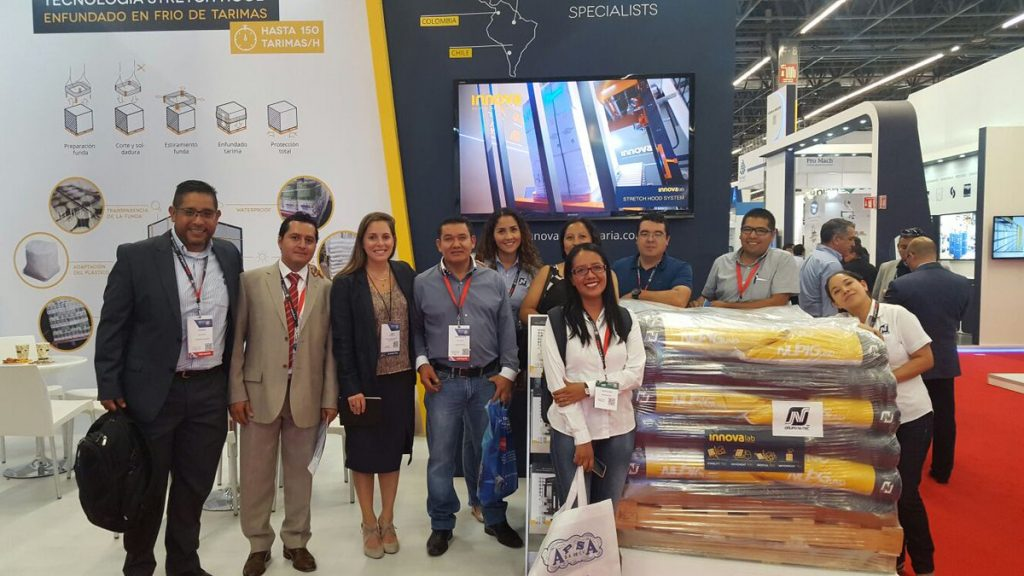 Nutec and Innova's team at Expo Pack 2017
