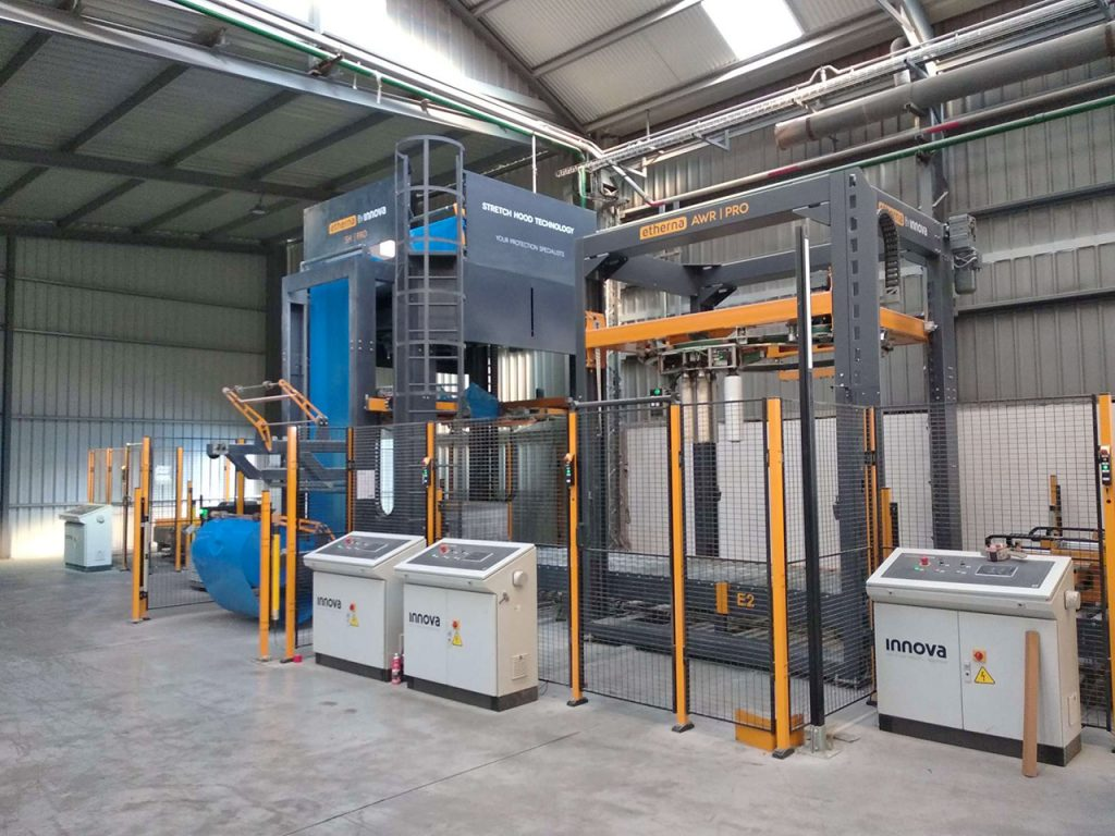 Stretch Hood Packaging Line Protection for Pallets